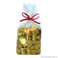 Goldmünzen in Beutel