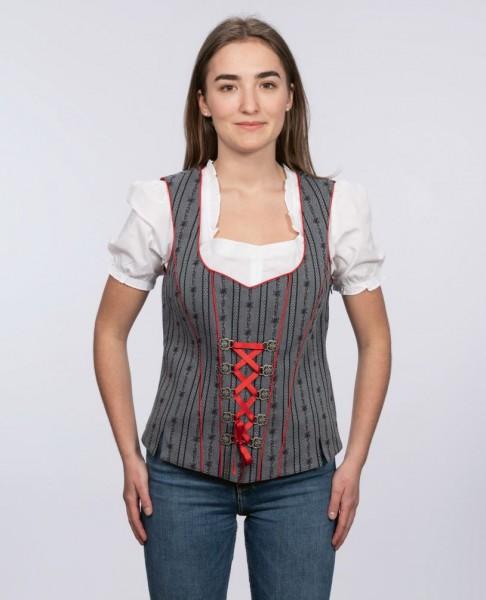 Damen Edelweiss-Bustier, anthrazit