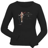 Damen-Shirt, Longsleeve Vintage Switzerland, schwarz