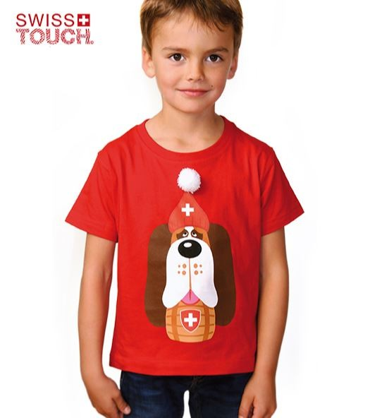 Kinder T-Shirt Barry, rot
