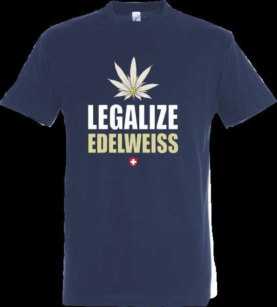 Herren T-Shirt Legalize Edelweiss