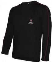 T-Shirt Langarm Emdroidery, schwarz