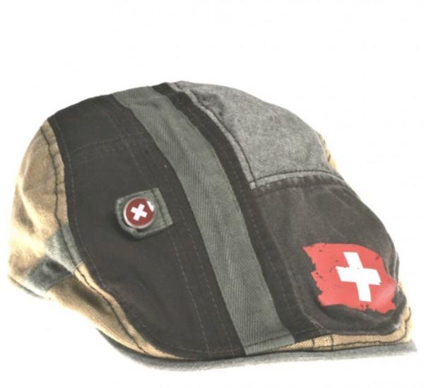Schiebermütze Schweizerkreuz