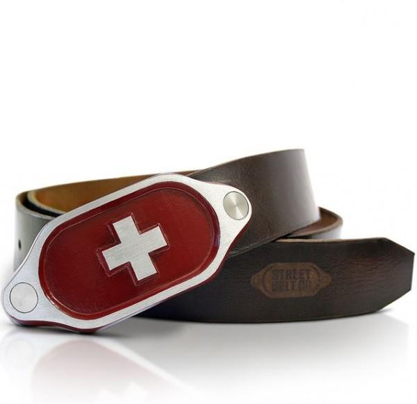 Schweizer Gürtel, hydro rot