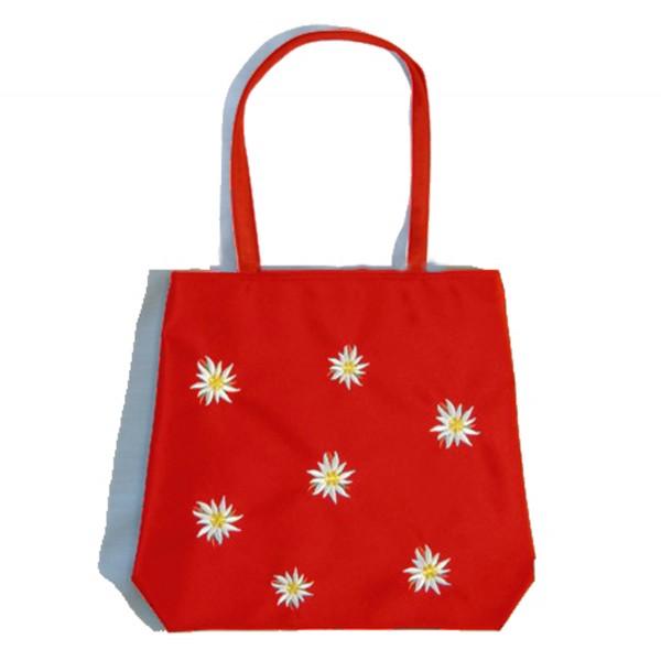 Einkaufstasche Edelweiss, rot