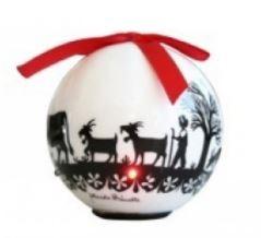 Weihnachtsdekoration - Christbaumkugel Scherenschnitt