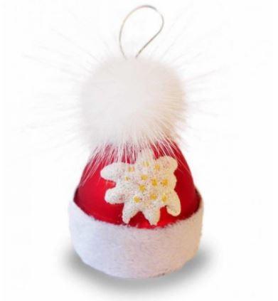 Weihnachtsdekoration - Baumschmuck Wintermütze