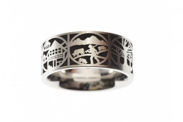 Ring Edelstahl Scherenschnitt 9mm