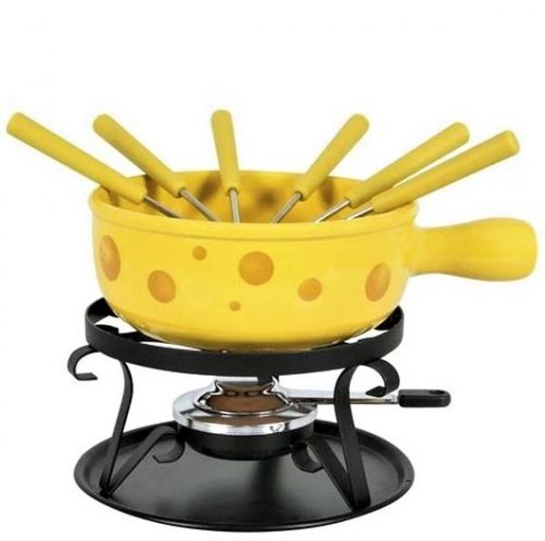"""Käse Fondue-Set """"Formaggio"""", 9-teilig, gelb"""