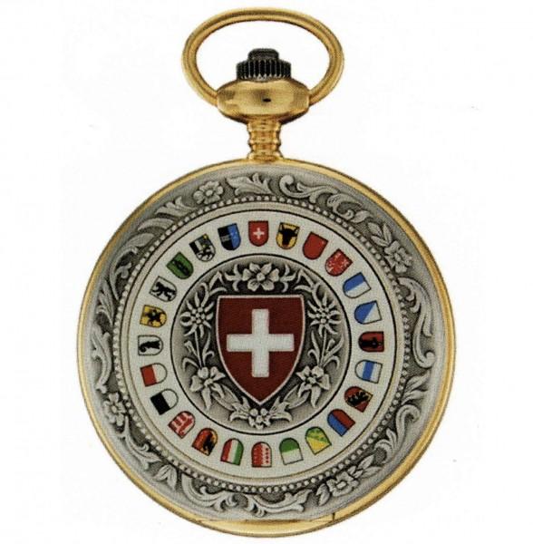 Taschenuhr Bolux 5P4 Schweizer Kantonswappen