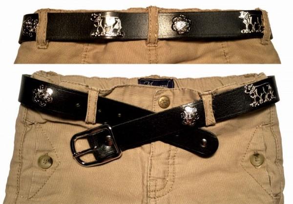 Appenzeller Kinder-Gürtel, 2.5cm breit, Leder