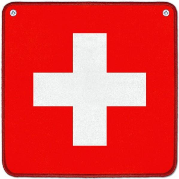 Jassteppich Schweizerkreuz 65 x 65 cm