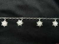 Armband mit vier Edelweiss 230