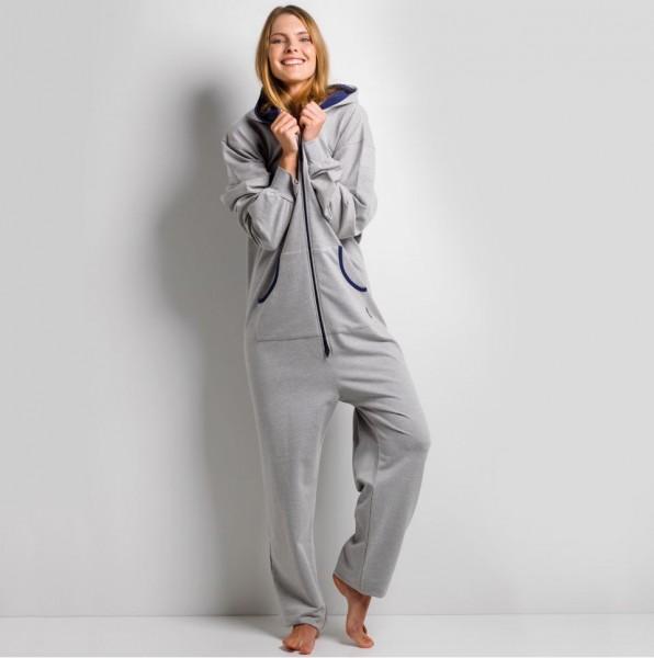 GaggoHaas Pyjama Onesie Damen Jumpsuit mit Kapuze