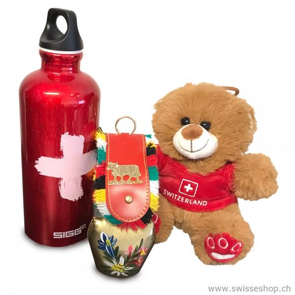 Geschenkset Sigg, Glocke & Teddybär