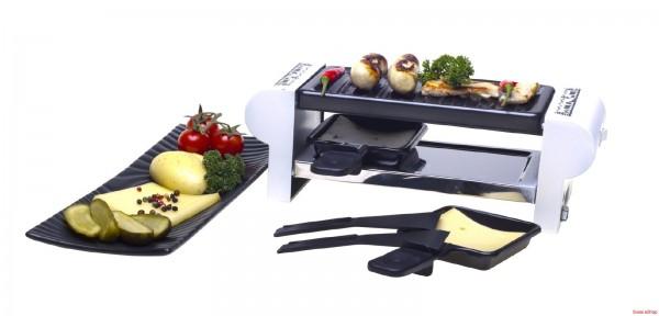 """Raclette-Gerät """"DUO"""" Scherenschnitt, weiss"""