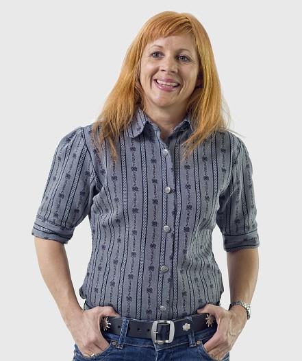 Damen Edelweiss Bluse kurzarm