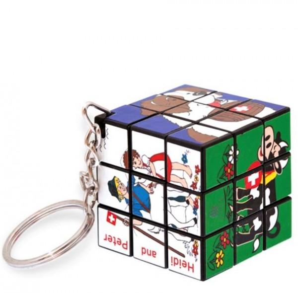 Schlüsselanhänger Rubiks Cube mini Heidi und Peter