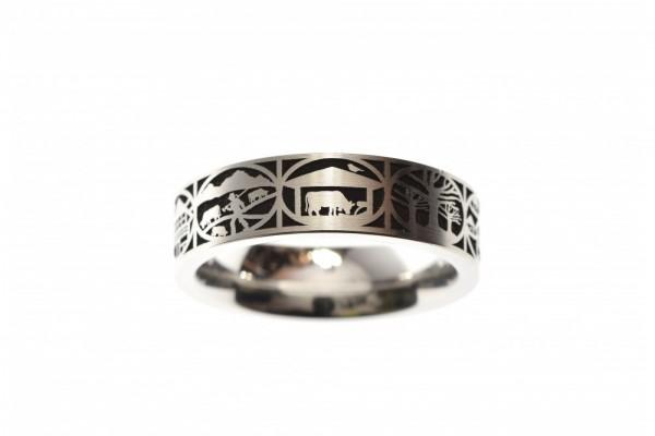 Ring Edelstahl Scherenschnitt 6mm
