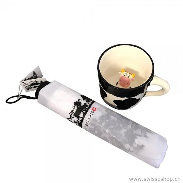 Geschenkset Regenschirm & Tasse