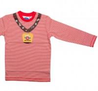 """Kinder Shirt """"Kuhglocke"""", Langarm, weiss rot/weiss"""