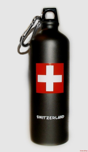 Trinkflasche SWITZERLAND anthrazit