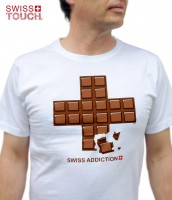 T-Shirt Swiss Addiction, weiss