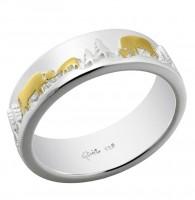 Ring Poya 925 Silber vergoldet, 7 mm