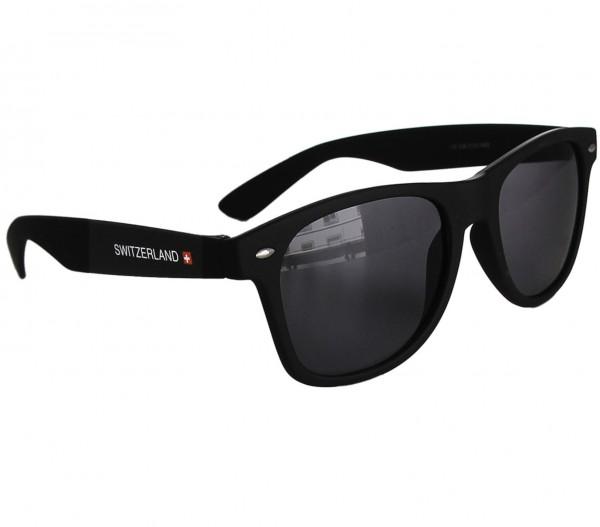 Sonnenbrille Classic Switzerland schwarz