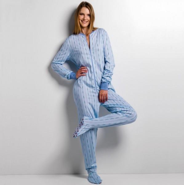 GaggoHaas Damen Füsslipyjama Jumpsuit, Edelweiss