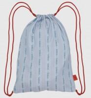 Leichter Rucksack mit Edelweiss hellblau