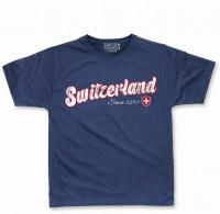 T-Shirt Switzerland Scratch, blau