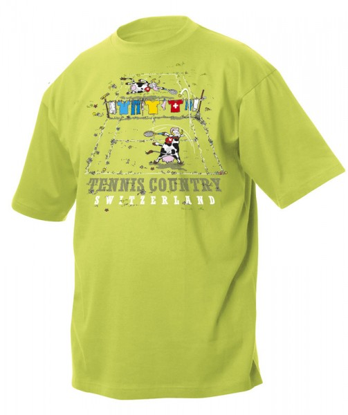 Kinder T-Shirt Tennis Kuh, grün