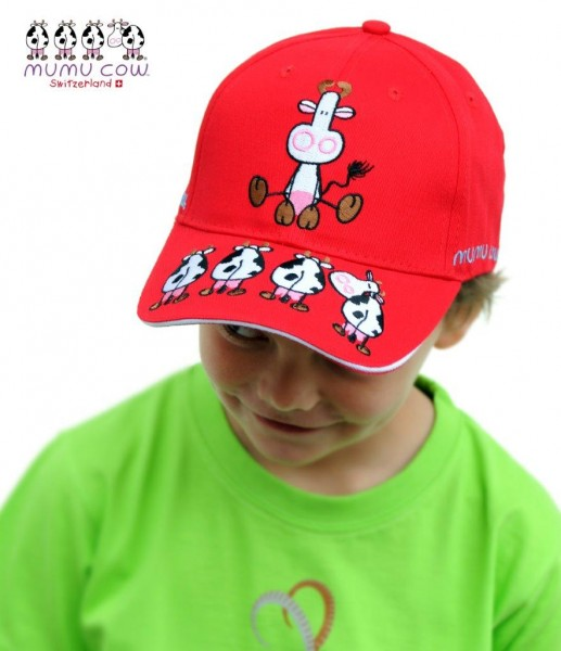 Kindermütze Mumu Cow rot