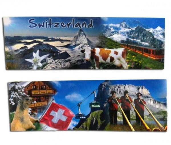 Buchzeichen mit Magnet, Schweizer-Sujets