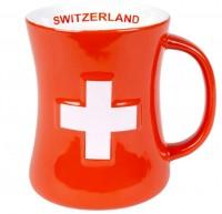 Tasse 3D Schweizerkreuz, rot