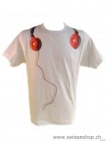 T-Shirt weiss KOPFHOERER