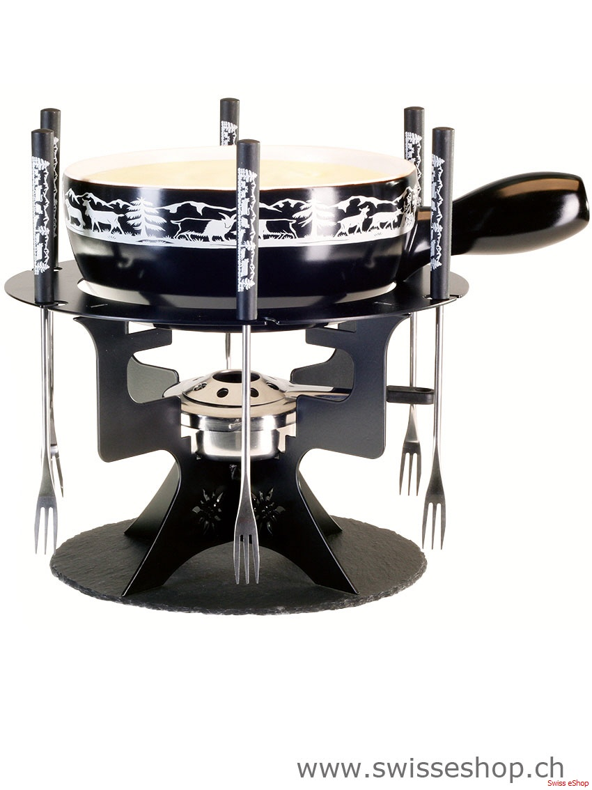 k sefondue set mini fondue bar edelweiss schweizer souvenirs i. Black Bedroom Furniture Sets. Home Design Ideas