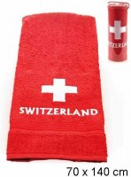 Frotteetuch CH-Kreuz Switzerland, rot, 70 X 140 cm