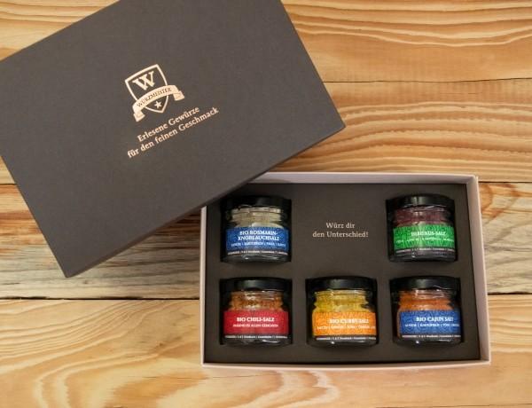 Gewürz-Set 5er Mini-Geschenkbox Salzvariationen