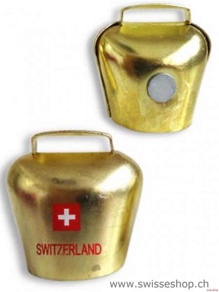 Magnet Glocke MESSING SWITZERLAND ohne Band