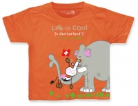 Kinder T-Shirt Mumu Cow Elefant, orange