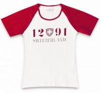 "Damen T-Shirt ""1291 SWITZERLAND"""