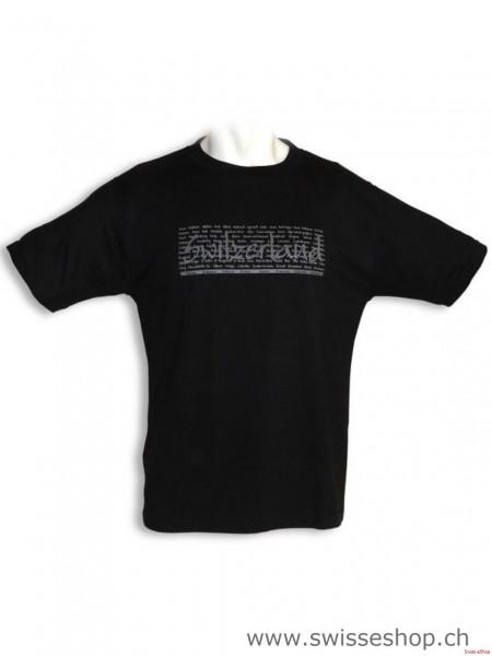 T-Shirt schwarz CH-STAEDTE