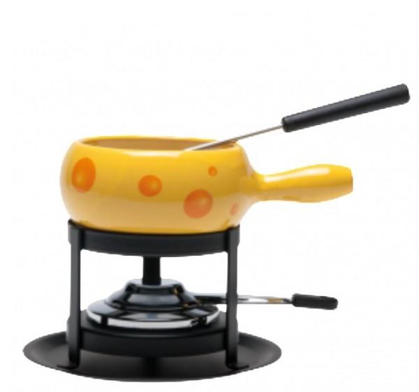 """Käse Fondue-Set """"Formaggio"""", 4-teilig, gelb"""