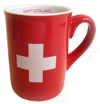 Tasse Schweizerkreuz rot
