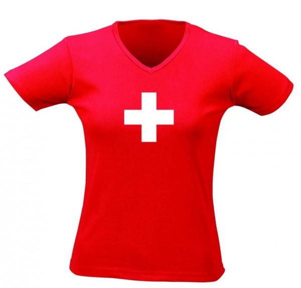 T-Shirt rot CH Kreuz