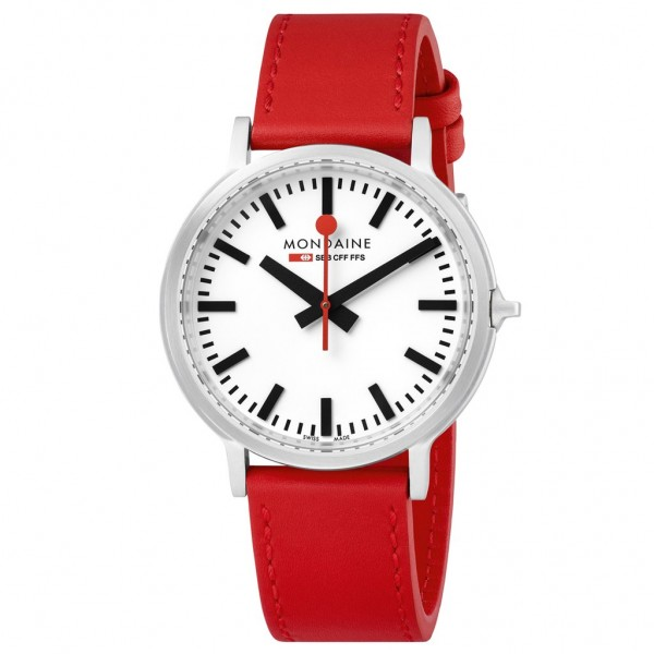 Armbanduhr Mondaine SBB Stop2go, 41 mm