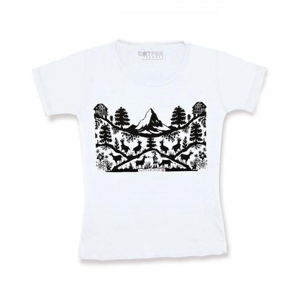Damen T-Shirt Scherenschnitt Matterhorn