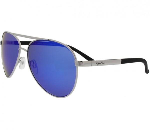 Unisex Sonnenbrille, silber, 100% UV Schutz
